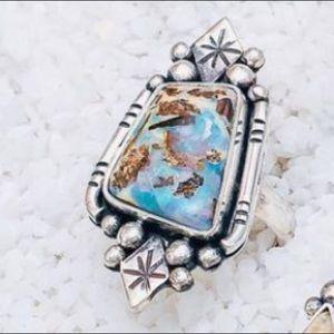 NEW OOAK Opal sterling silver ring